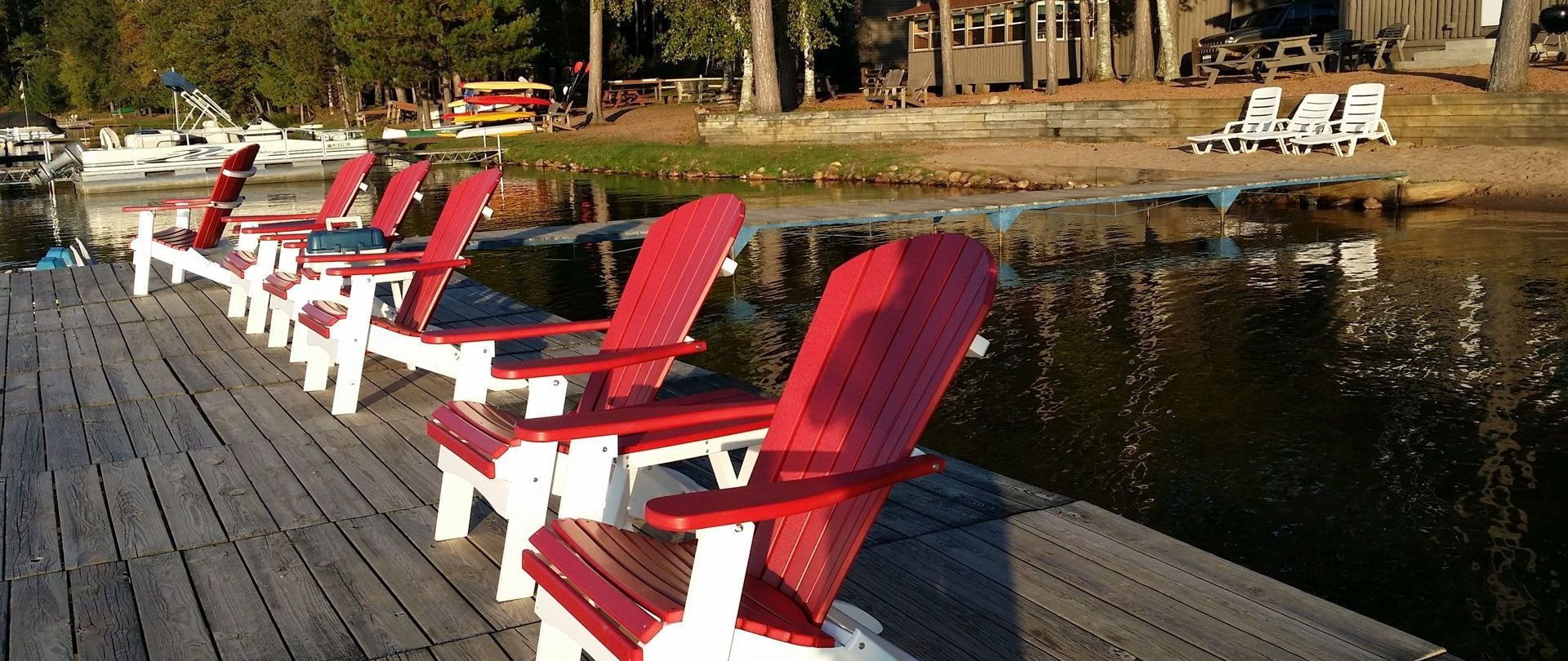 Big Dock! Comfy Chairs!